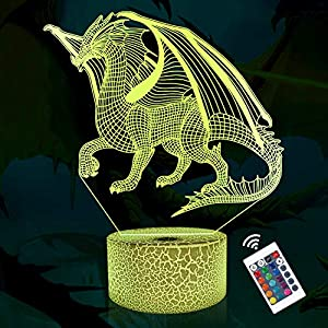 3D Lamp Night Light 3D Illusion lamp for Kids, 16 Colors Changing with Remote, Kids Bedroom Decor as Xmas Holiday Birthday Gifts for Boys Girls