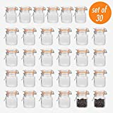 Encheng 4 oz Glass Jars With Airtight Lids And Leak Proof Rubber Gasket,Small...