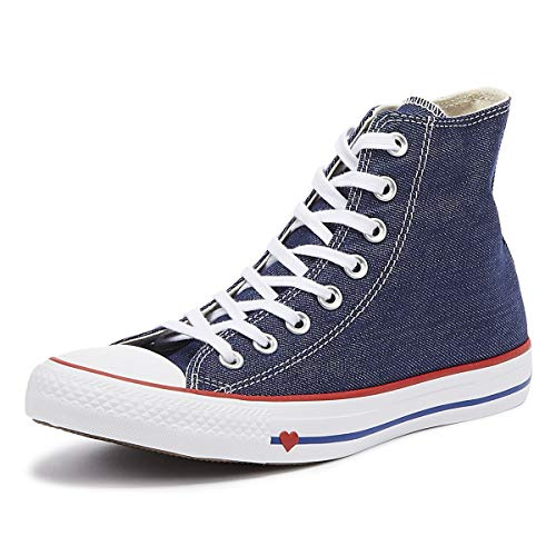 CONVERSE Chuck Taylor All Star Sucker FOR Love Textile HI Zapatillas Moda Mujeres Azul - 35 - Zapatillas Altas