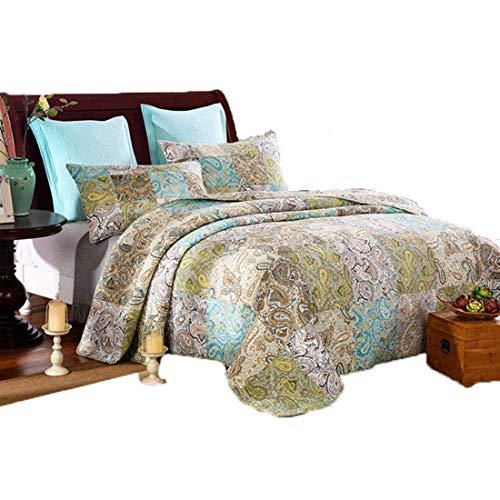 AHJSN Quilting Quilt, reines Baumwollgarn gefärbt Handgenäht von DREI Sets klimatisierter Summer Cool. (Farbe: Mehrfarbig)