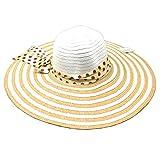 Hersic Sombrero de Mimbre con Lazo