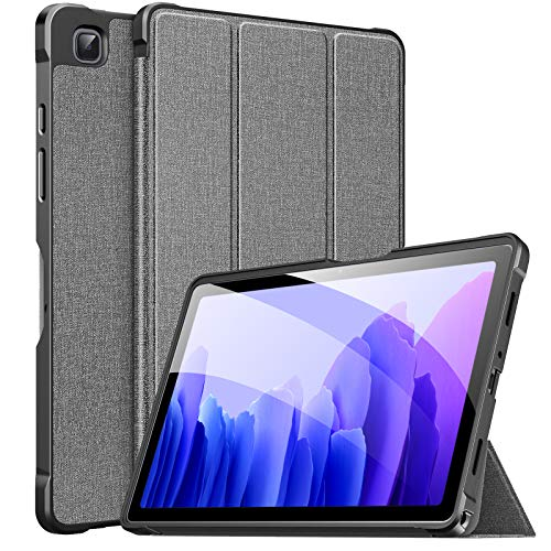 MoKo Case Fits Samsung Galaxy Tab A7 10.4 Inch 2020 Model (SM-T500/505/507), Lightweight Slim PU Tablet Case Shockproof TPU Back Shell Trifold Stand Cover with Auto Wake/Sleep, Gray