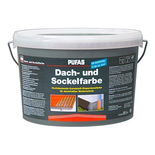Pufas Dach- und Sockelfarbe 5 L Farbe: Schiefer 950 Dachfarbe Sockel-Anstrich