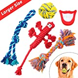 Dog Rope Toys for Aggressive Chewers - Set of 11 Nearly Indestructible Dog Toys - Bonus Giraffe Rope Toy