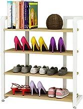 Household Shoe Rack 4 Tier White Hallway Standing Shelf Organiser Shelves Storage Living Room Dust-Proof Space Saving Shel...