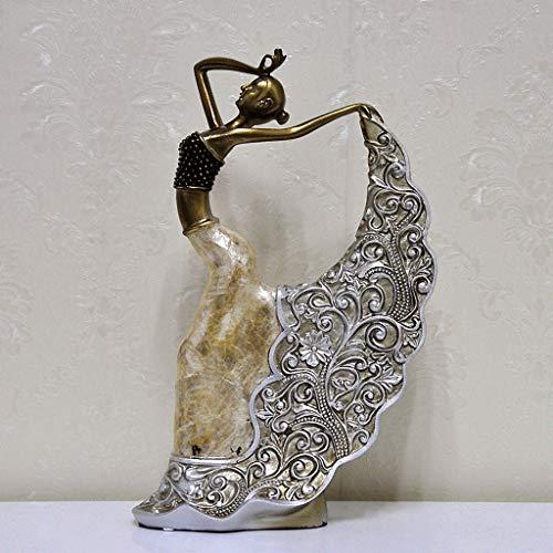 Ambachten Klassieke Sculptuur Pauw Dans Meisje Ornamenten Thuis Meubels TV Kabinet Decoratie Ambachten Geschenken 1-11