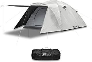FIELDOOR フィールドキャンプドーム300 フライシート付 ペグ+ロープ+ポール+キャリーバッグ付 4~6人用 UVカット 耐水 シルバーコーティング キャノピー 簡単