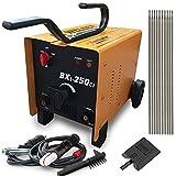 Cu ALightup Commercial 110V/220V ARC 250 AMP Welder Welding Machine Soldering Accessories Tools (Yellow)