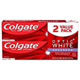 Colgate Optic White Advanced Teeth Whitening Toothpaste, Sparkling White - 4.5 Ounce (2 Pack)