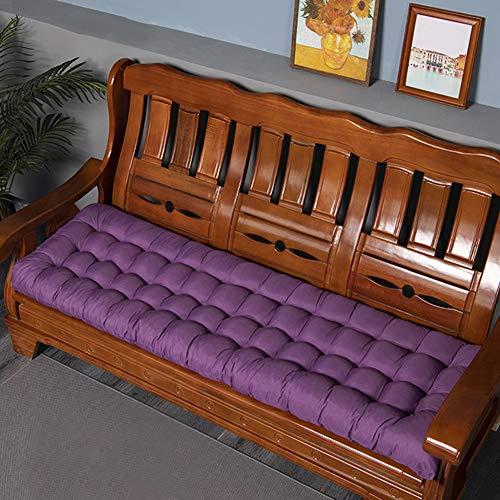 Cojín de asiento de banco de 8 cm de grosor, suave y práctico, rectangular para silla de banco, cómoda colchoneta para jardín al aire libre para 2-3 plazas