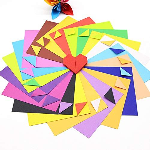 Origami-Papier für Bastelarbeiten, Doppelgröße, zweifarbig, 24 Stück