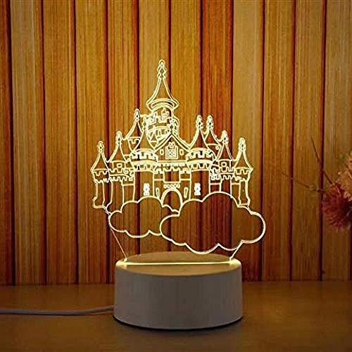 wangzj city Luces de noche Luces de interior Lámpara de noche Luces de habitación Luz de noche LED Lámpara de mesa de acrílico Ahorro de energía-Regalo para niños