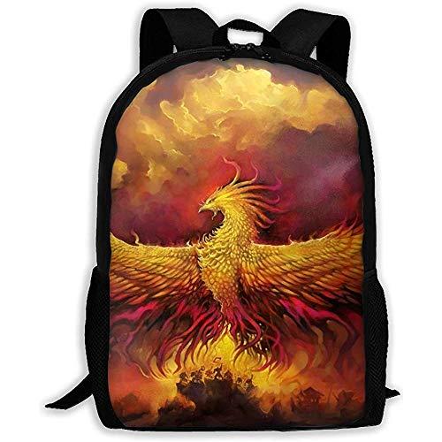 Mochila Personalizada para Adultos Cool Flame Phoenix Bird Unisex, Mochilas Escolares Deportivas Ocasionales, Mochilas portátiles duraderas Oxford para Exteriores