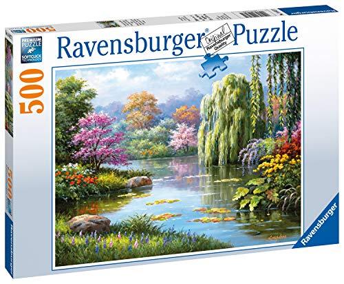 Ravensburger 14827 Romantik Am Teich 14827-Romantik Erwachsenenpuzzle