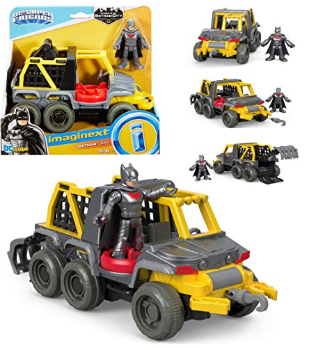 Imaginext DC Super Friends Streets of Gotham City - Batman & 6x6 - Includes 6-Wheeler Vehicle and Batman Figure