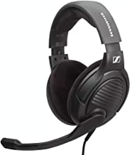 Massdrop x Sennheiser PC37X Gaming Headset — Noise-Cancelling Microphone with Over-Ear Open-Back Design, 10 ft Detachable Cable, and Velour Earpads,Black