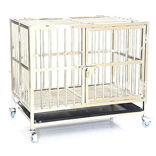 yagiya 犬サークル ペットゲージ 犬 ケージ 小屋 サークル ゲージ 猫 キャットケージ 室内 犬小屋 猫小屋 金属サークルステンレスサークル 折りたたみ式 サークルトレー付き 丈夫 ケース 猫 中小犬対応可能 80cmx50cmx60cm