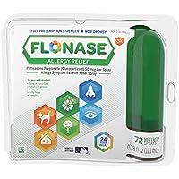 Flonase Allergy Relief 24 Hour Non-Drowsy Metered Nasal Spray, 72 Sprays