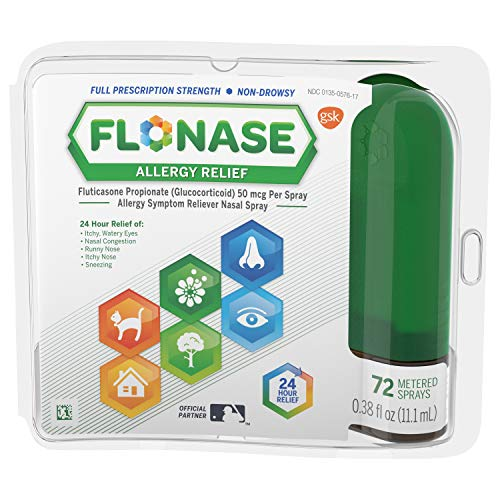 Flonase Allergy Relief Nasal Spray 72 Sprays, 0.38 Fl Oz