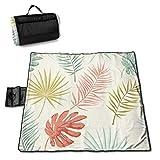 Nonebrand Manta de picnic de verano con patrón retro, lavable, plegable, impermeable, para picnic, camping, playa, tamaño grande de 57 x 59 pulgadas