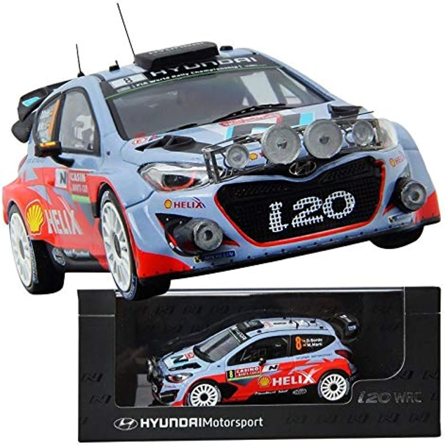 Pino B&D i20 WRC no.8 1 43 Display Model car Motor Sports Miniature