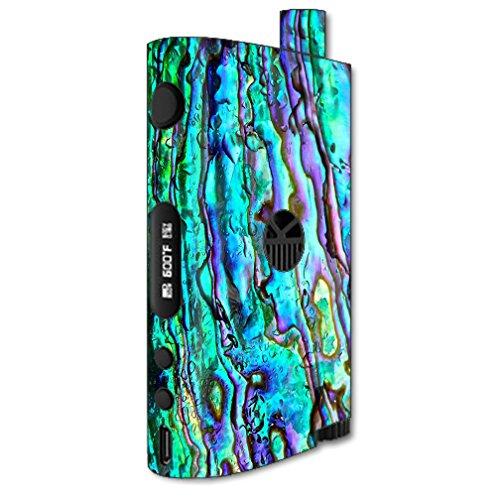 Skin Decal Vinyl Wrap for Kangertech Nebox Kit Kanger Vape Mod Skins Stickers Cover / Abalone Ripples Green Blue Purple Shells