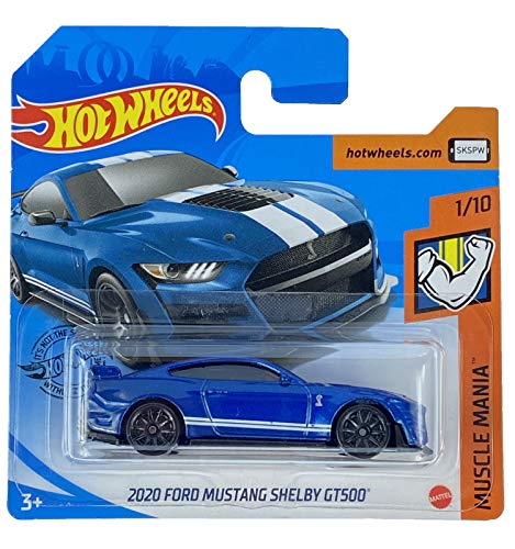 Hot Wheels 2020 Ford Mustang Shelby GT500 Muscle Mania 1/10 2020 (248/250) Short Card