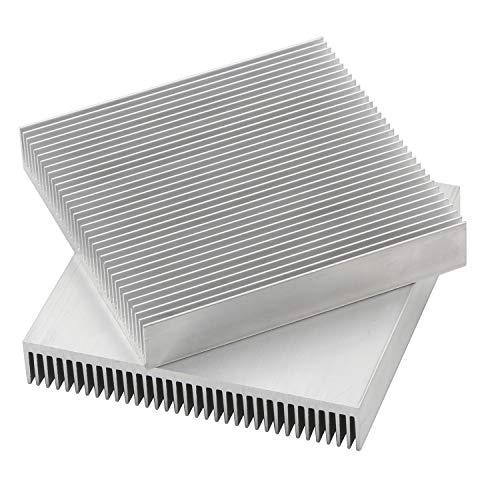 Senmod 2pcs Aluminium Heatsink Cooling Module, 90x90x15mm Heat Sink Cooler Fin for High Power LED Amplifier Transistor