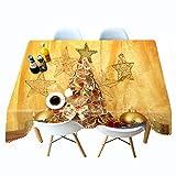 Shadow Mantel de jardín Lavable protección de Mesa Navidad Mantel Impreso en 3D cabaña roja árbol de Navidad Mantel Personalizado Mantel Mantel Personalizado 178x178cm
