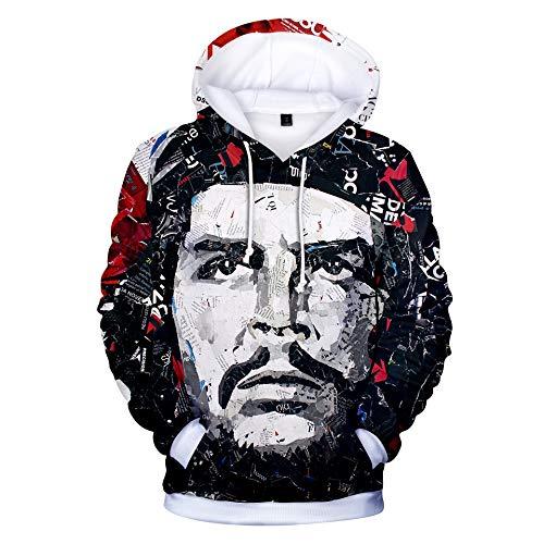 INSTO Sweatshirt Che Guevara Gedruckt Sweatshirt Beiläufig Lose Kapuzenpullover Unisex Einfach Beiläufig / A5 / XS