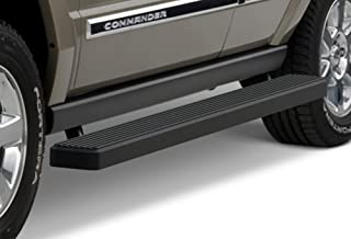 APS iBoard (Black Powder Coated 5 inches) Running Boards Nerf Bars Side Steps Step Rails Compatible with 2006-2011 Jeep Commander Sport Utility 4-Door (7 Passenger Commander with Rear AC Only)