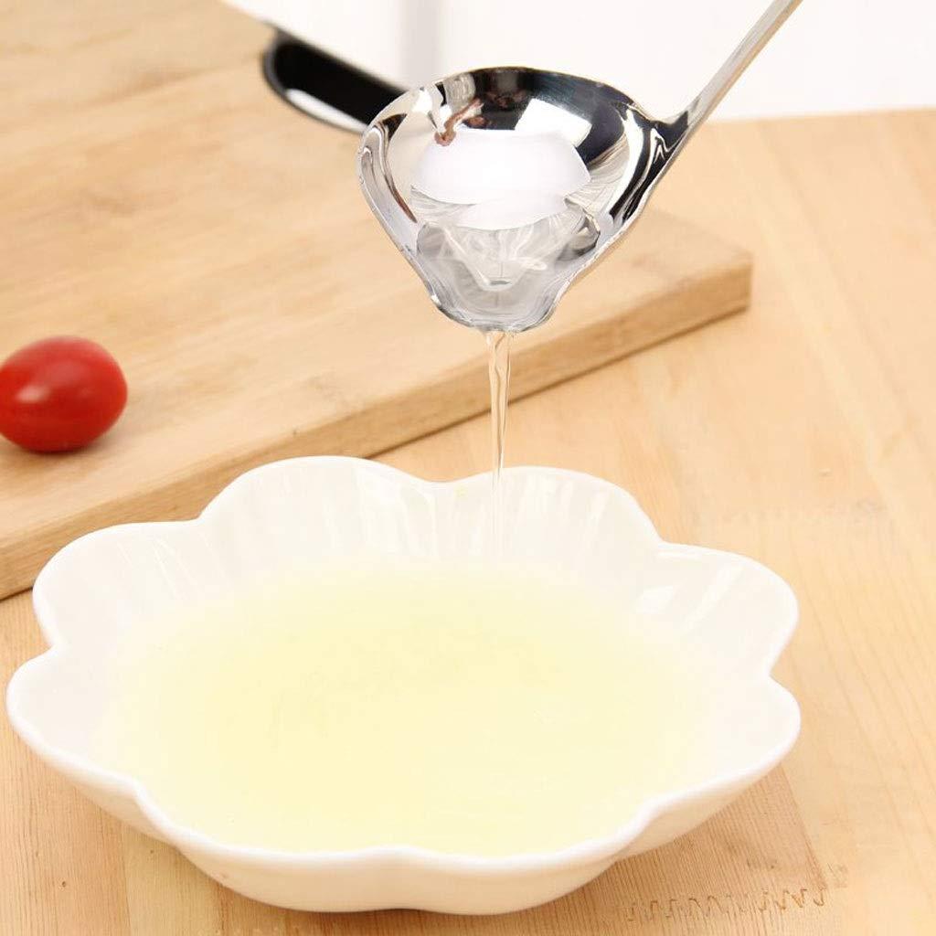 Liudan Cuchara Salsera Cazo para Sopa Cucharas de Sopa de Mango Largo de Acero Inoxidable Cuchara y colador de Colada for Cubiertos de Cocina de Acero Inoxidable Cuchara para Espaguetis: Amazon.es: Hogar