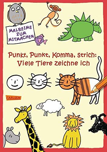 Punkt, Punkt, Komma, Strich: Viele Tiere zeichne ich