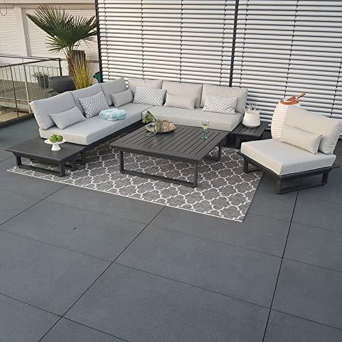 ICM Alu Gartenlounge Set St.Tropez Aluminium anthrazit Gartenmöbel Loungegruppe Terrassenmöbel Outdoormöbel Loungeset Outdoorlounge Gartenmöbelset