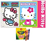 Hello Kitty Activity and Coloring Books with Crayons for Kids and Toddlers - Includes 2 Hello Kitty Coloring Books and 8 Crayola Large Crayons