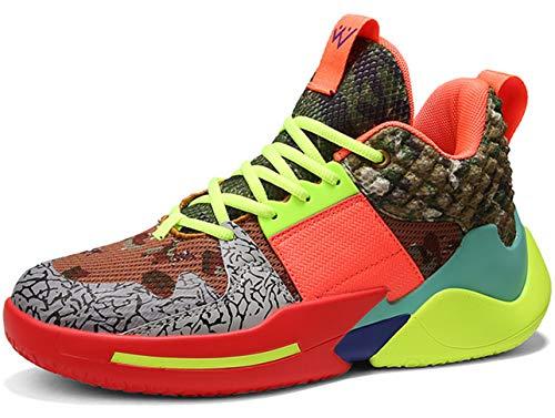 QJRRX Herren Basketball Schuhe Laufschuhe Fitness straßenlaufschuhe Sneaker Sportschuhe Basketball Turnschuhe Atmungsaktiv rutschfeste Sneaker 39-47