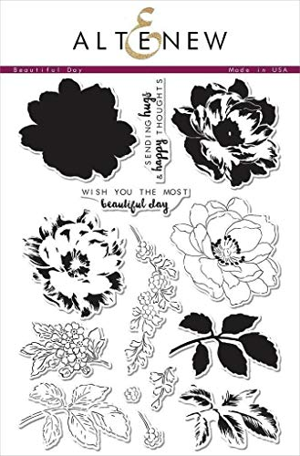 Altenew Beautiful Day Stamp Set (6' x 8') Most Popular Floral Layering Stamp Set for Card Making, Scrapbooking, Journaling