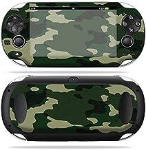 MightySkins Skin Compatible with PS Vita PSVITA Playstation Vita Portable wrap Sticker Skins Green Camo