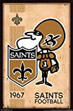 New Orleans Saints - Retro Logo 14 Poster Drucken (86,36 x