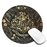 Ha-rr-y Po-tt-er Gry-Ffindor Logo Round Mouse Pads for Computers Laptop Mousepad Non-Slip Rubber Gaming Mouse Pad