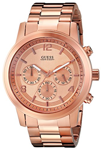 GUESS U16003G1 Bold Contemporary Chronograph Watch - Rose: Watches