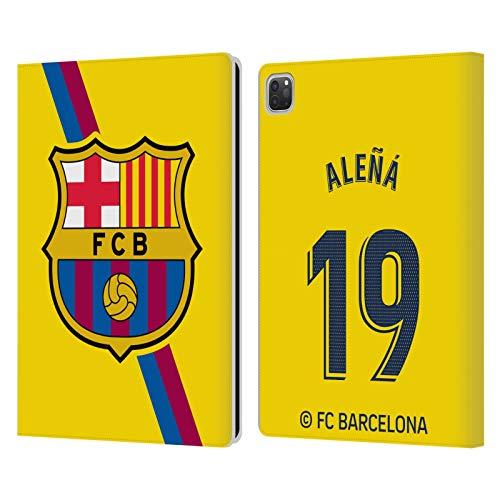Head Case Designs Oficial FC Barcelona Carles Aleña 2019/20 Jugadores Visitante Grupo 2 Carcasa de Cuero Tipo Libro Compatible con Apple iPad Pro 12.9 (2020)