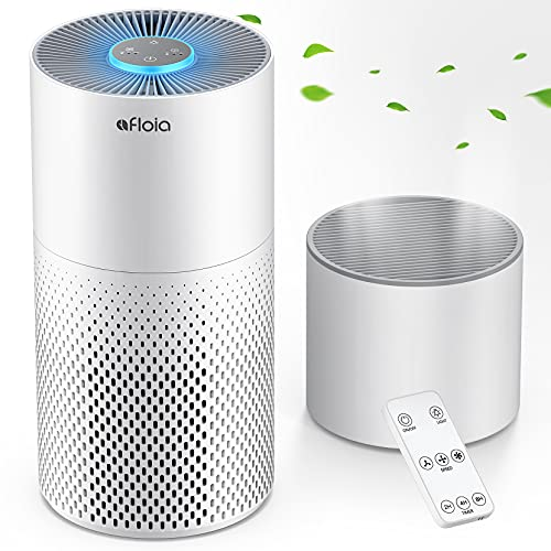 Air Purifier And Humidifier Combo For Home, 22Db  7 Colors Night Hepa Air Purifiers 2 In 1 With Remote Control, Hepa Filter Air Cleaner Removing 99.99% Smokers Odor And Pollen For Bedroom