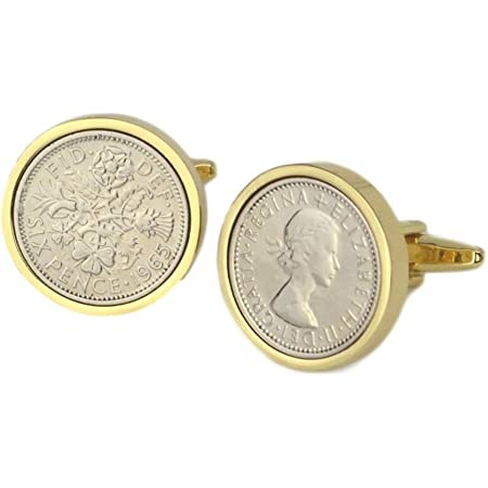 69th Birthday Cufflinks 1950 Cufflinks Gold Sixpence Coin Cufflinks-Gold Cufflinks Mens Gift 69th Birthday Cuff Links 69th Anniversary