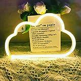 LED Cloud Light Neon Signs - Protecu USB Battery...