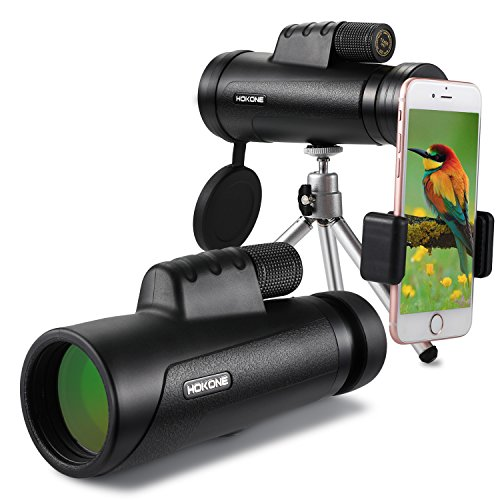 Monocular Telescope, 12x50 with Phone Clip and Waterproof BAK4 Prism for Wildlife Bird Watching...