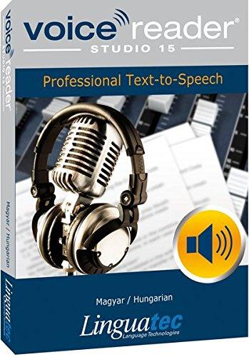 Voice Reader Studio 15 Hongrois / Magyar / Hungarian – Professional Text-to-Speech Software - Logiciel synthèse vocale (TTS) pour Windows PC – Sonorisation professionnelle - Qualité vocale exceptionelle – Transformer tout type de texte en audio