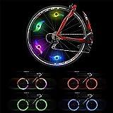 Lámpara de Flash de neumáticos Rueda de Ciclismo habló luz Luz de la llanta de Bicicleta Obtén un 100% de Brillo y Visibilidad Desde Todos los Ángulos,Amarillo,10PCS