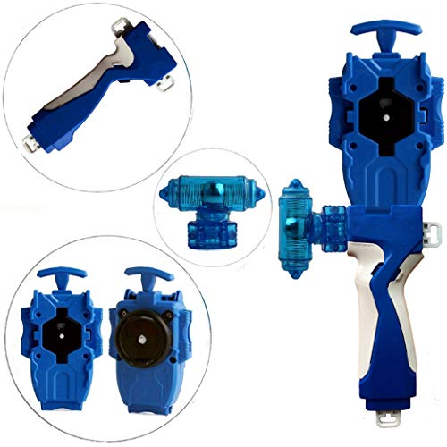 StormGyro Battling Battle String Launcher and Launcher Grip with Weight Damper Set(Blue)