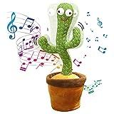 OKsolaca Cactus Bailarin,Juguete De Cactus Que Habla,Juguete Cactus Baile con 120 Canciones En Inglés,Cactus Que Baila, Cantando Y Grabación Interesantes Juguetes Educativos De Educación Temprana